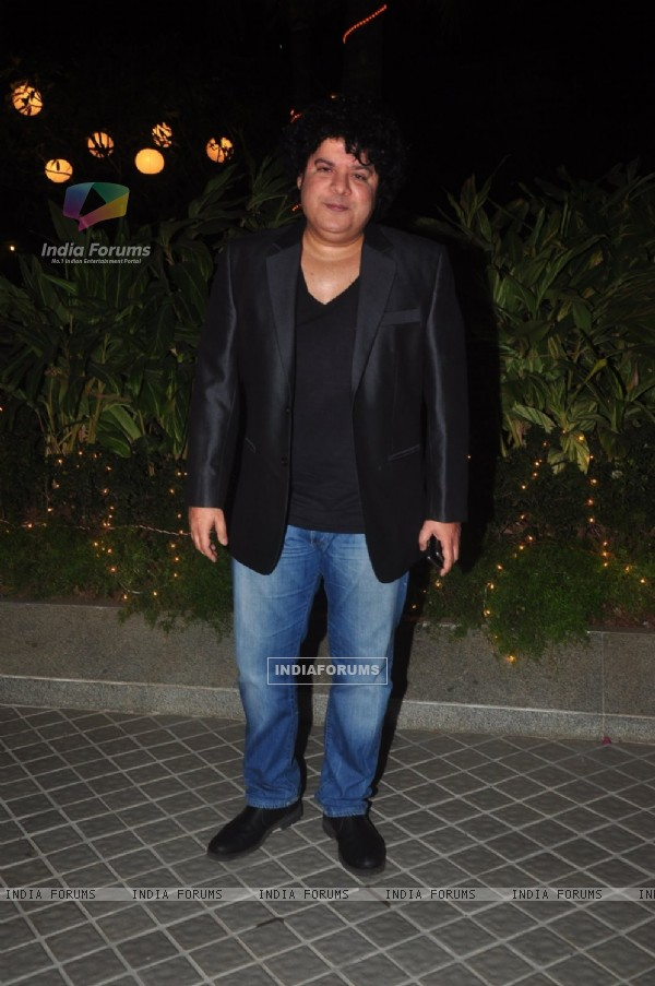 Sajid Khan poses for the media at Farah Khan's Birthday Bash