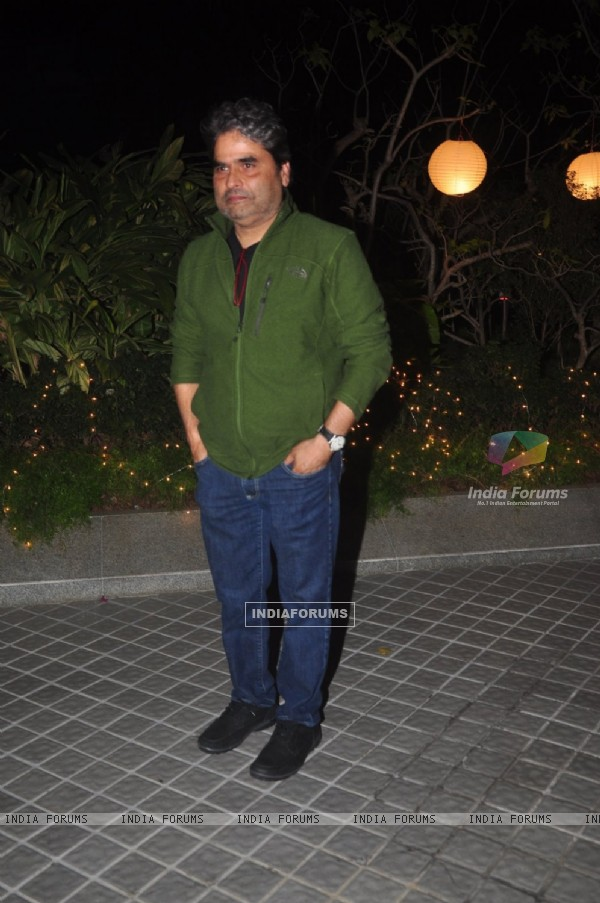 Vishal Bharadwaj poses for the media at Farah Khan's Birthday Bash