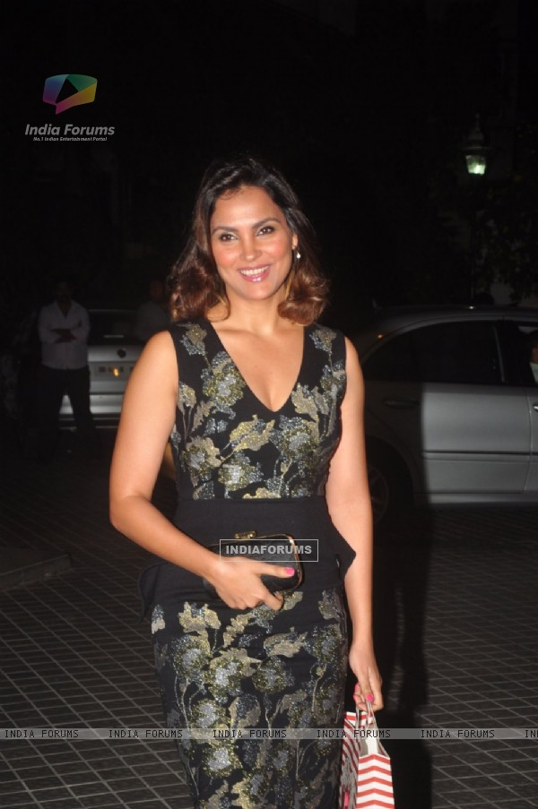 Lara Dutta poses for the media at Farah Khan's Birthday Bash