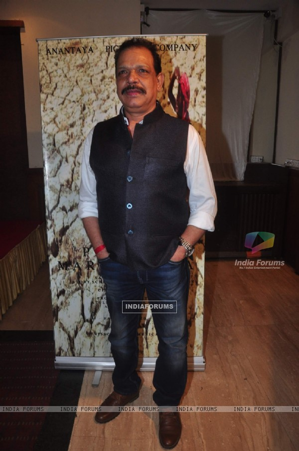Govind Namdeo poses for the media at the Launch of film Project Marathwada