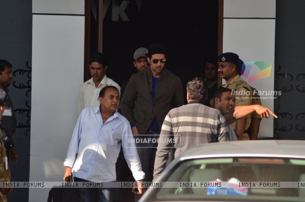Hrithik Roshan was snapped Arriving from Saifai Mahotsav Fest