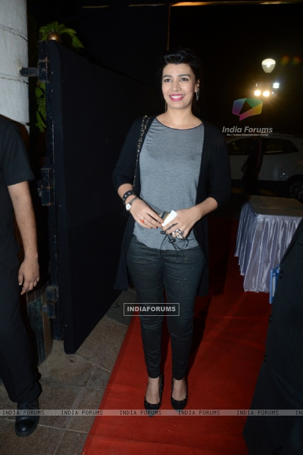 Mink Brar poses for the media at Charan Singh's Lohri Celebration
