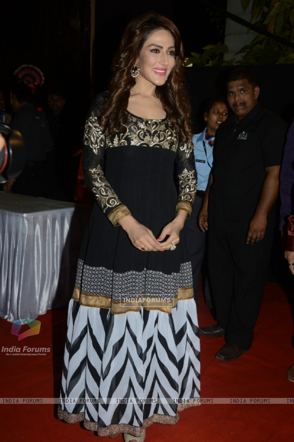 Sudeepa Singh poses for the media at Charan Singh's Lohri Celebration