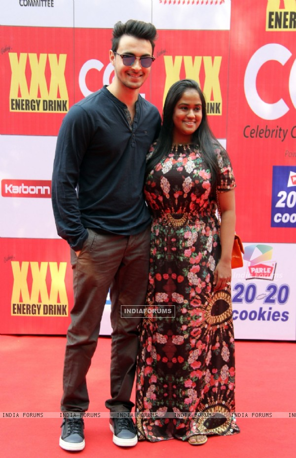 Arpita Khan and Ayush Sharma at the CCL Match Between Mumbai Heroes and Veer Maratha