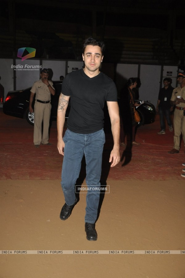 Imran Khan poses for the media at Umang Police Show