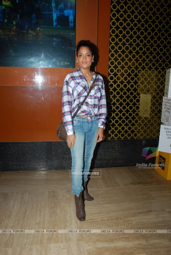 Sandhya Mridul poses for the media at the Screening of The Imitation Game
