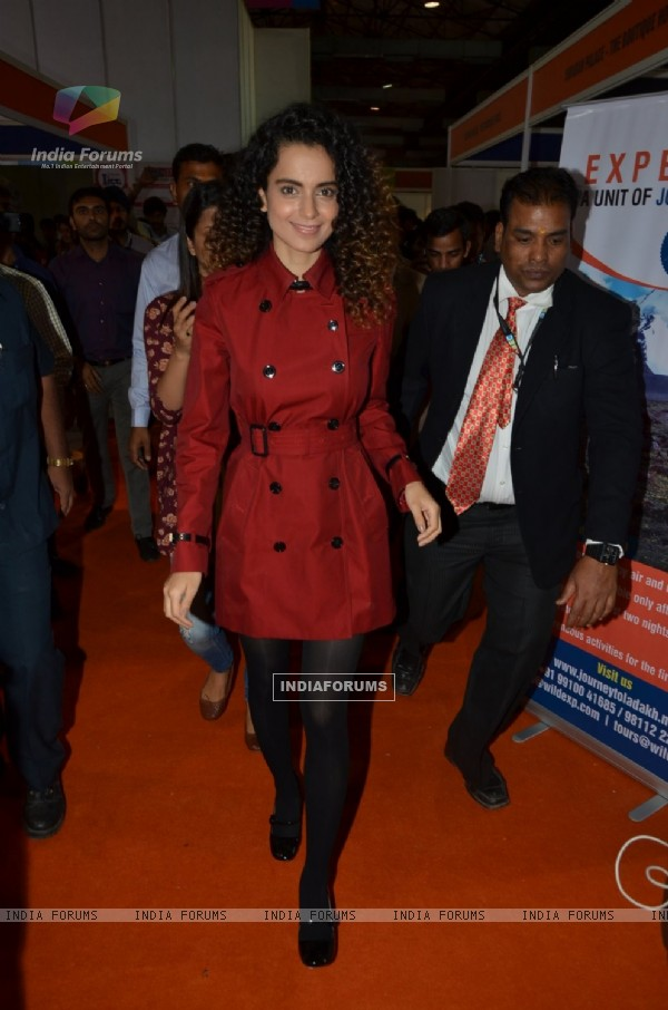 Kangana Ranaut was snapped at ITT Travel Exhibition