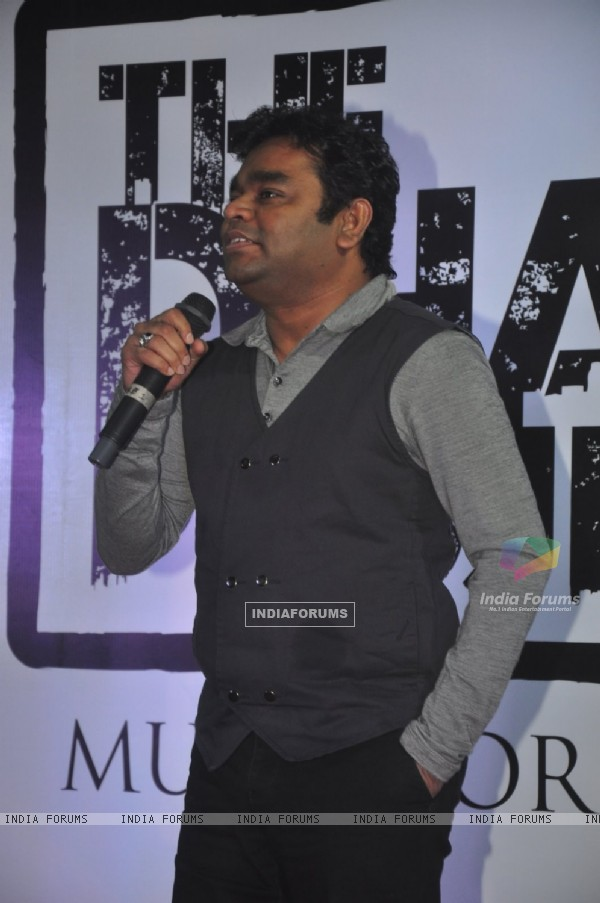 A.R. Rahman interacts with the audience at the Launch of 'The Dharavi Project'