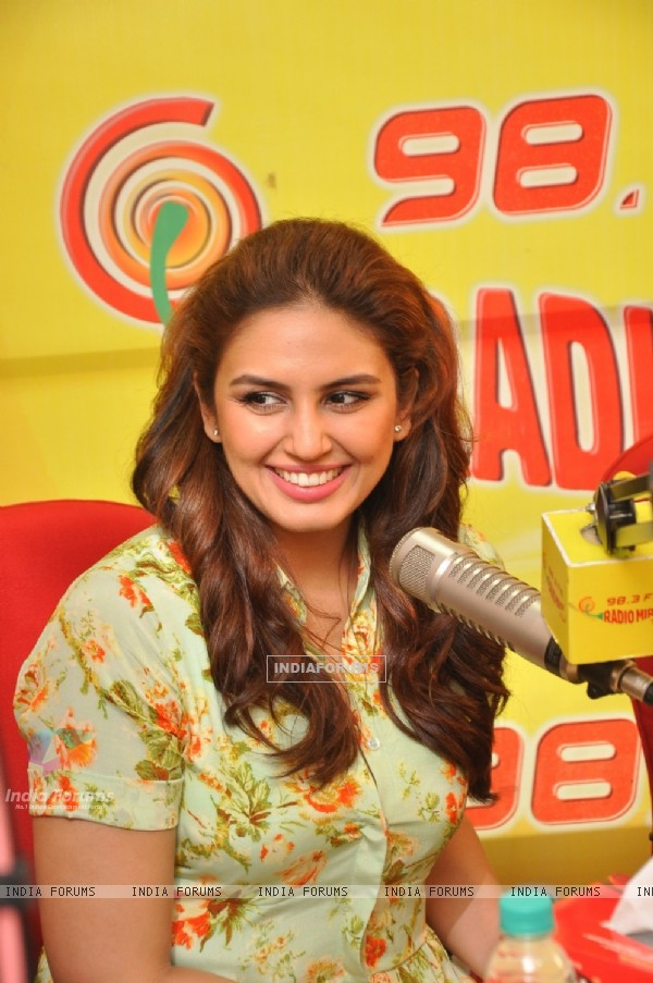 Huma Qureshi was snapped at the Promotions of Badlapur on Radio Mirchi