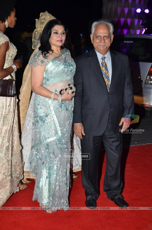 Kiran Juneja and Ramesh Sippy were at Kush Sinha's Wedding Reception