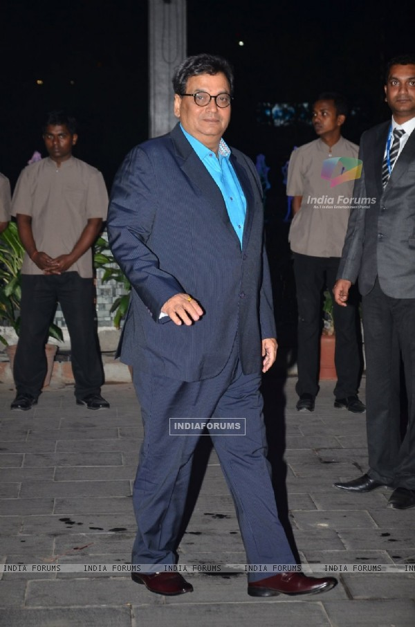 Subhash Ghai at Kush Sinha's Wedding Reception
