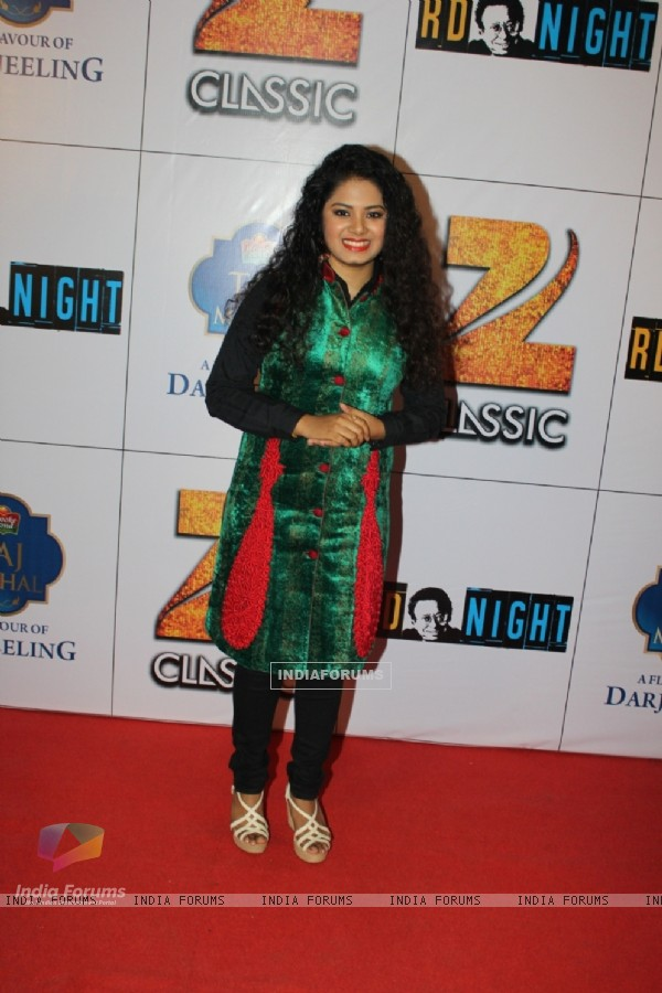Anvesha Gupta poses for the media at the Celebration of 75 years of Musical Genius - R.D. Burman