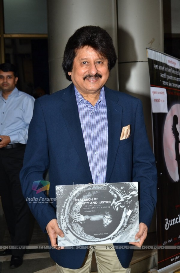 Pankaj Udhas poses for the media at the Launch of the Book 'In Search Of Dignity And Justice'