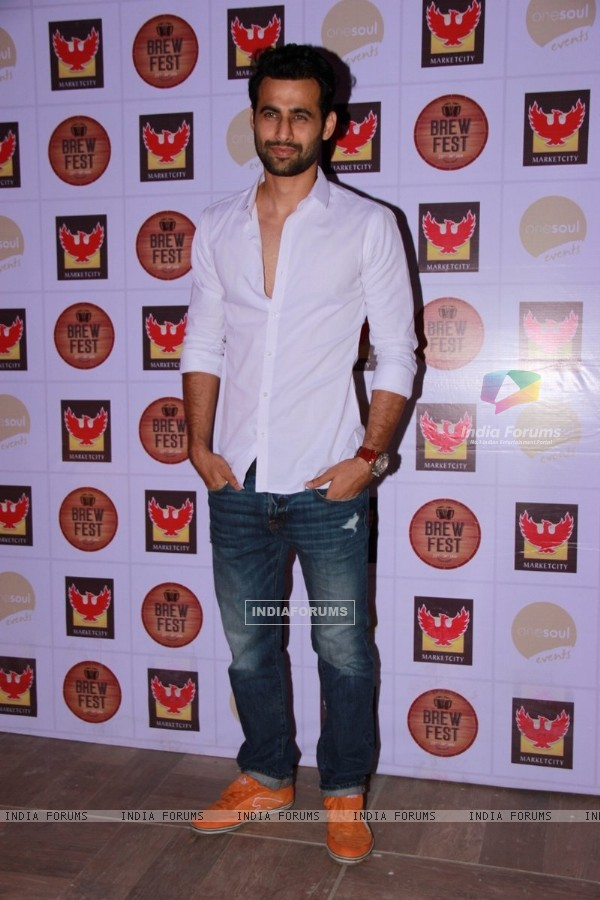Freddy Daruwala poses for the media at Brew Fest