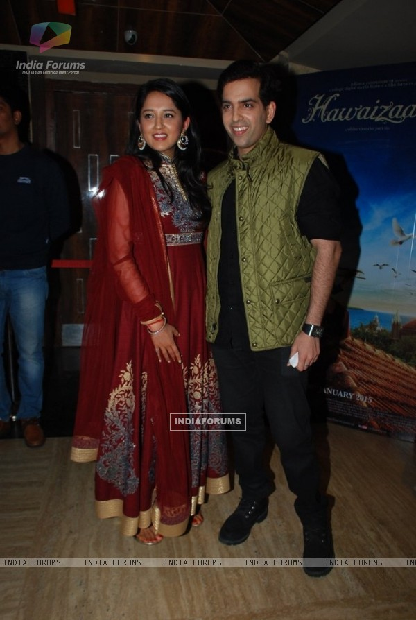 Kush Sinha with his wife at the Special Screening of Hawaizaada