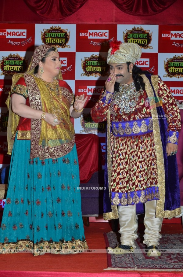 Delnaaz Irani and Kiku Sharda at the Launch of Akbar Birbal