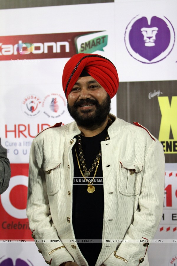 Daler Mehndi was snapped at CCL Match Between Mumbai Heroes and Telugu Warriors