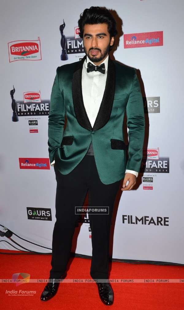 Arjun Kapoor was at the 60th Britannia Filmfare Awards