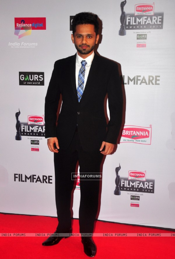 Rahul Vaidya was at the 60th Britannia Filmfare Awards