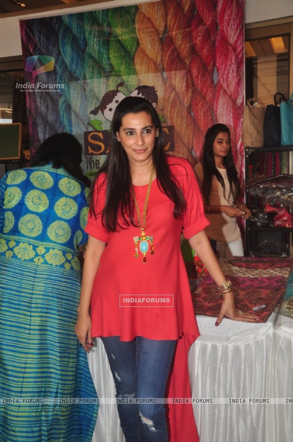 Mana Shetty poses for the media at Araish Exhibition