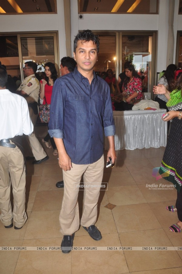 Vikram Phadnis poses for the media at Araish Exhibition