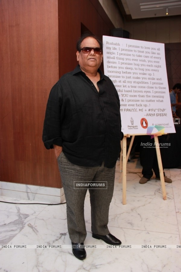 Satish Kaushik poses for the media at Arya Babbar's Book Launch