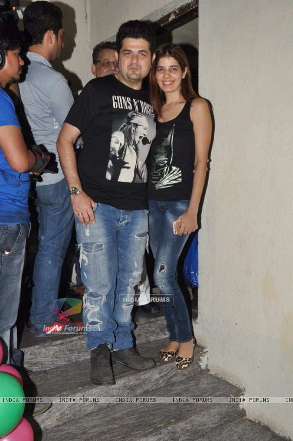 Dabboo Ratnani with wife at the Special Screening of Shamitabh