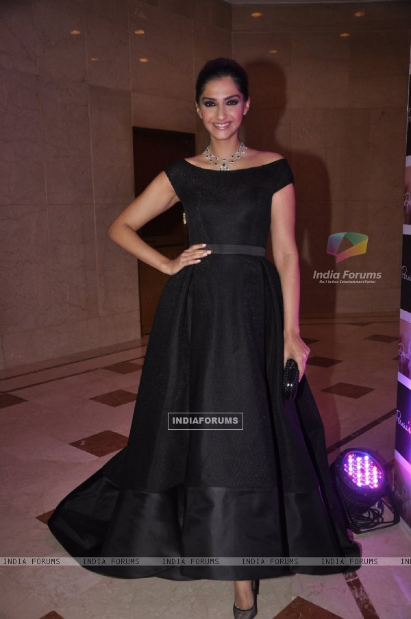 Sonam Kapoor poses for the media at 'The Night of your Dreams' Bash