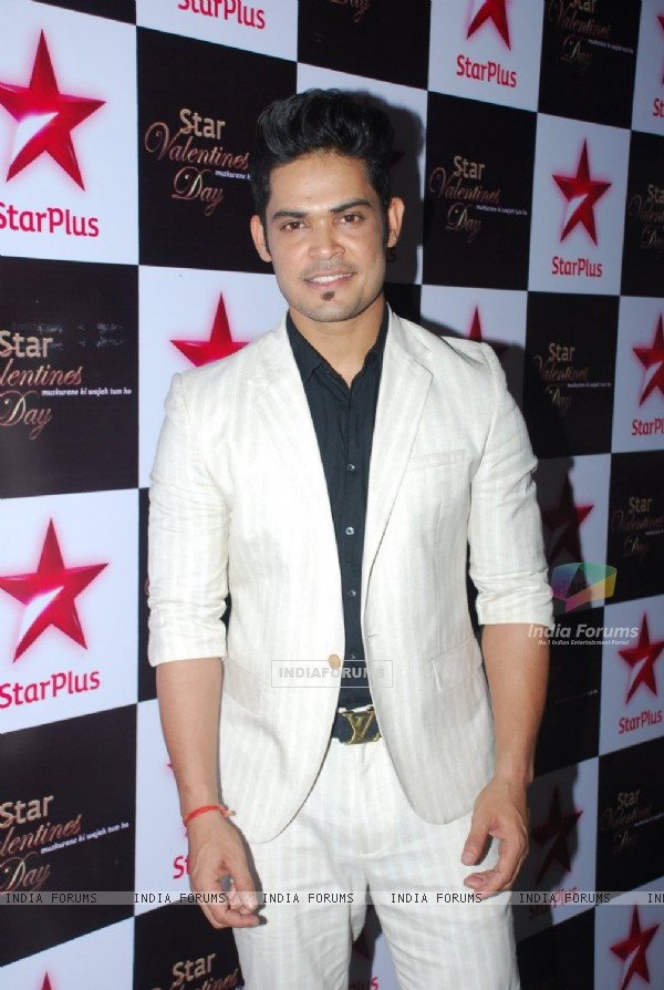 Kunwar Amarjeet Singh poses for the media at Valentines Day Event by Star Plus