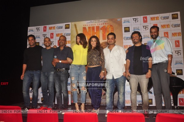 Team poses for the media at the Promotions of NH10