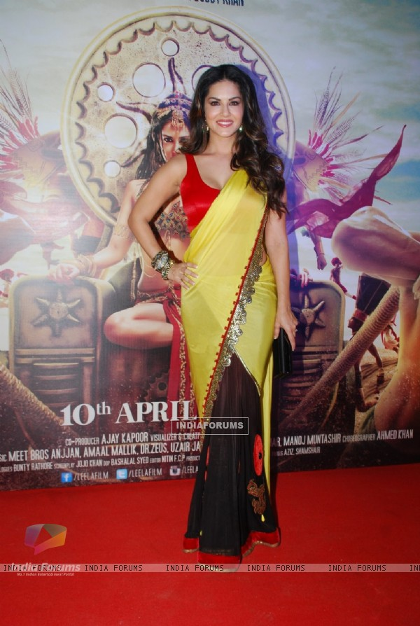 Sunny Leone poses for the media at the Trailer Launch of Leela