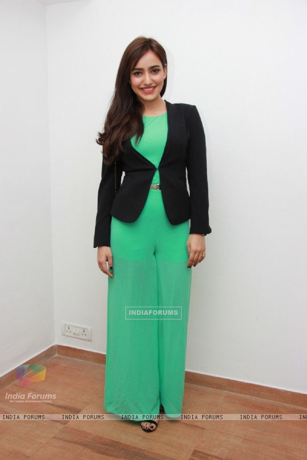 Neha Sharma poses for the media at Narata Purohit's 4th Anniversary Bash