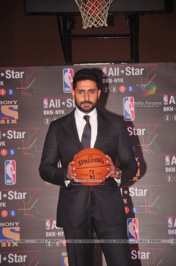 Abhishek Bachchan poses for the media at NBA All - Star 2015 Meet