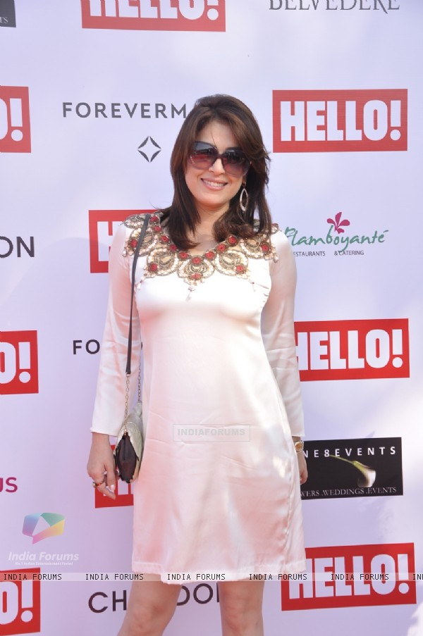 Amrita Raichand poses for the media at The Hello! Classic Cup 2015