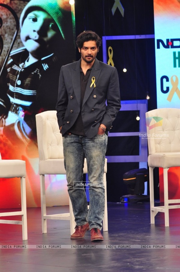 Ali Fazal poses for the media at NDTV Fortis Health 4U Cancerthon Campaign