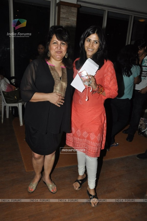 Ekta Kapoor poses for the media at the Play 'Unfaithfully Yours'