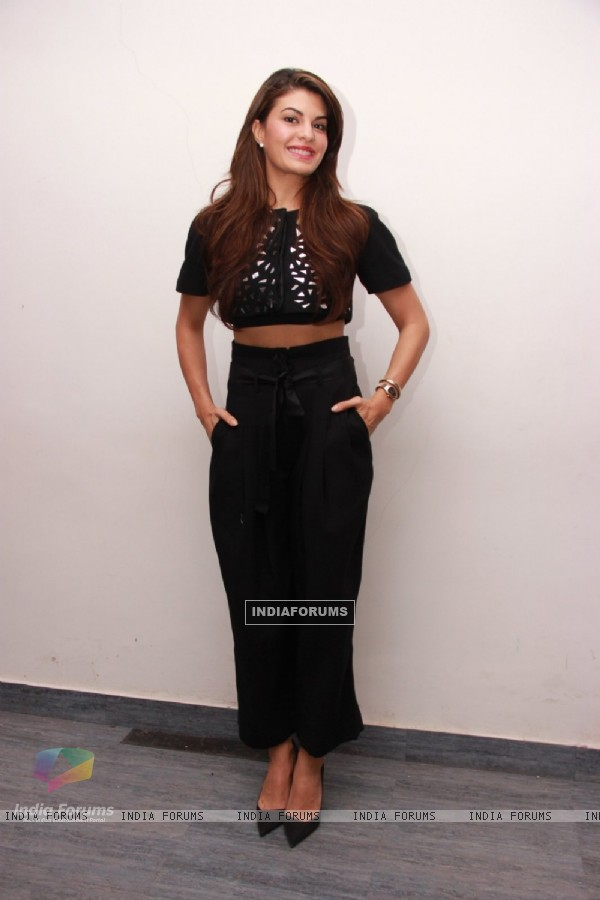 Jacqueline Fernandes poses for the media at the Promotions of Roy