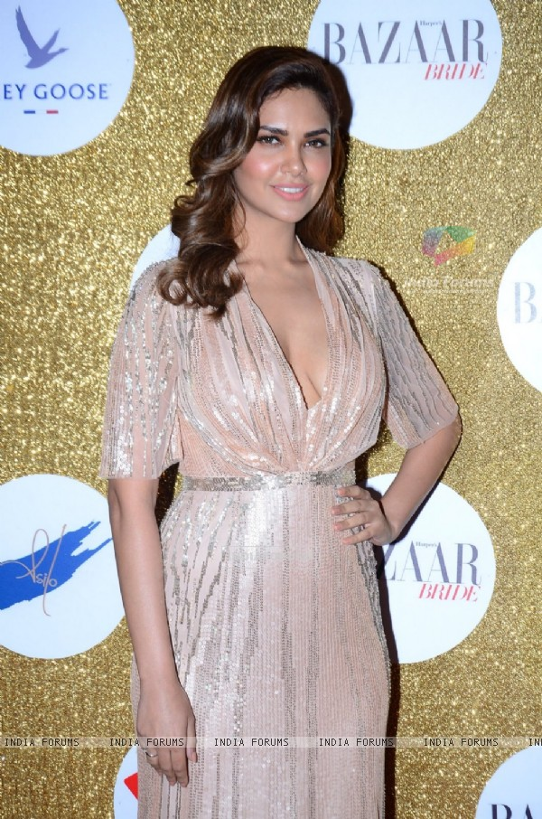 Esha Gupta poses for the media at Harper's Bazaar Bride Anniversary Bash