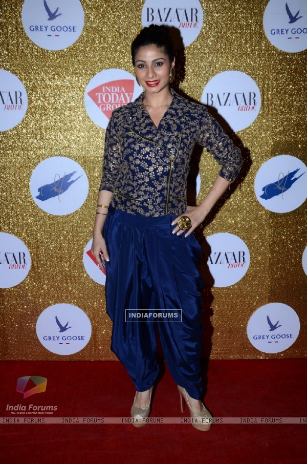 Tanishaa Mukerji poses for the media at Harper's Bazaar Bride Anniversary Bash
