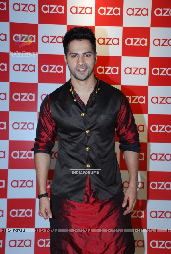 Varun Dhawan was at Kunal Rawal's menswear collection launch at AZA