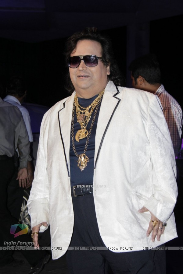 Bappi Lahiri was seen at Smita Thackerey's Son's Wedding Reception