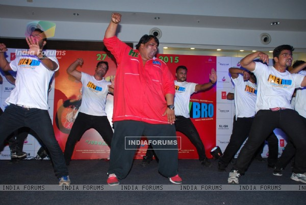Ganesh Acharya performs at the Promotions of Hey Bro