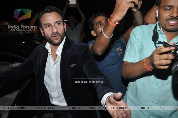 Saif Ali Khan was snapped at Randhir Kapoor's Birthday Dinner
