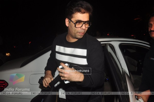 Karan Johar was snapped at Zoya Akhtar's Birthday Bash