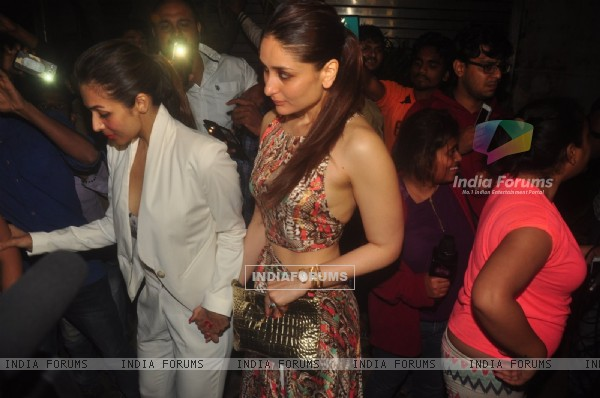 Kareena Kapoor and Malaika Arora Khan were snapped at Zoya Akhtar's Birthday Bash