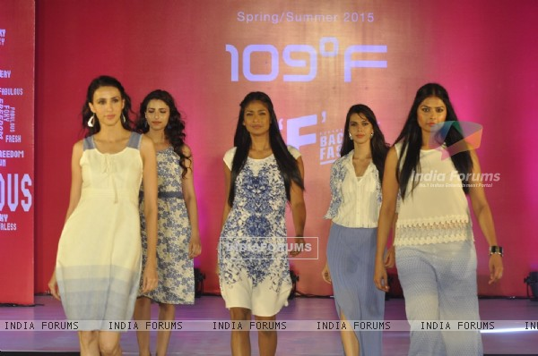 Models walk the ramp at 109 Fashion Show