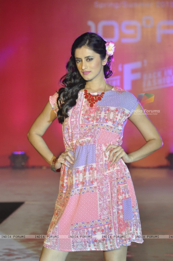 Mihika Verma walks the ramp at 109 Fashion Show
