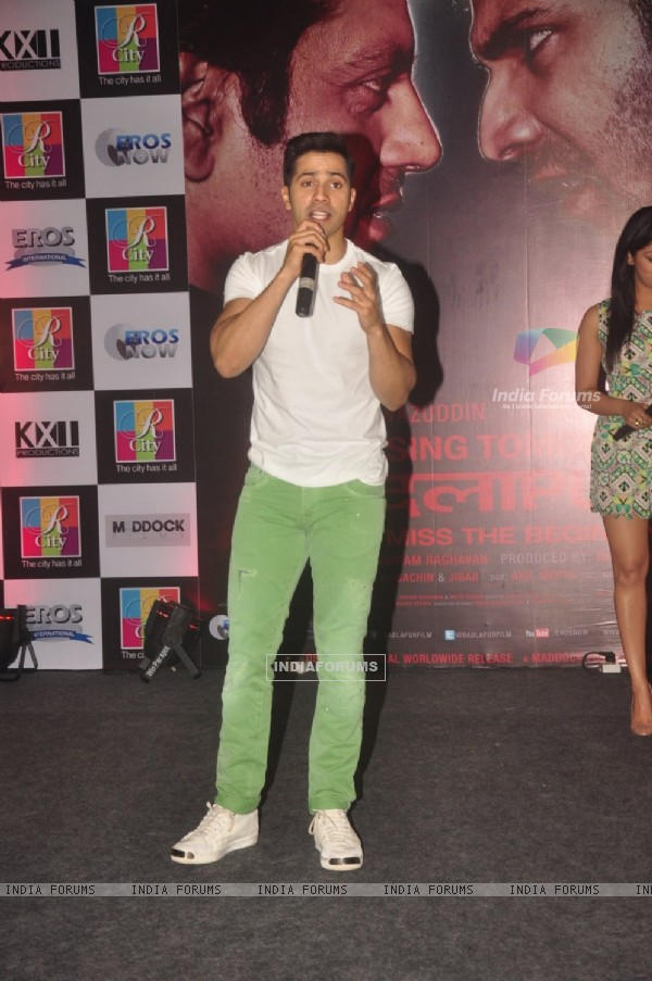 Varun Dhawan interacts with the audience at the Promotions of Badlapur at R City Mall