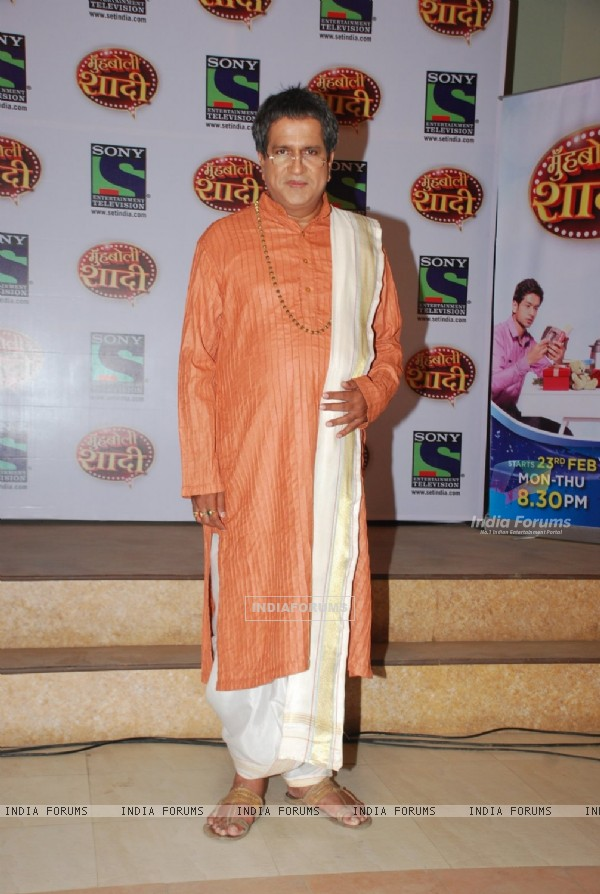 Darshan Jariwala poses for the media at the Launch of Mooh Boli Shaadi
