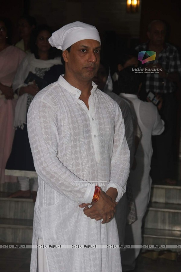 Madhur Bhandarkar was snapped at his Mother's Prayer Meet